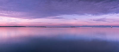 Vermont Burlington Lake Champlain Panorama Sunrise Poster by Andy Gimino