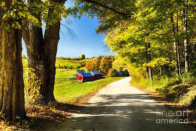 Vermont Farm Scenic I Poster by George Oze