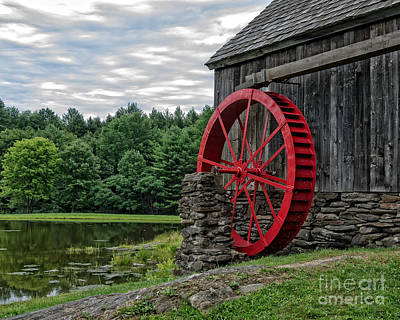 Vermont Grist Mill Poster by Edward Fielding