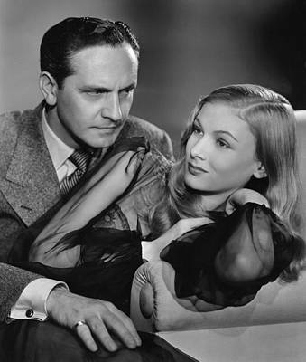 Veronica Lake And Frederic March Poster by Georgia Fowler