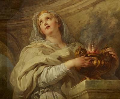 Vestal Virgin Poster by Francois Lemoyne