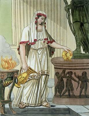 Vestal Virgin, Illustration Poster by Jacques Grasset de Saint-Sauveur