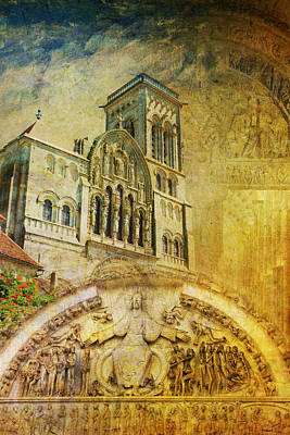 Vezelay Church And Hill Poster by Catf
