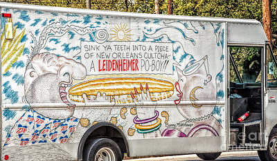 Vic And Nat'ly And The Leidenheimer Po-boy Truck - New Orleans Poster by Kathleen K Parker