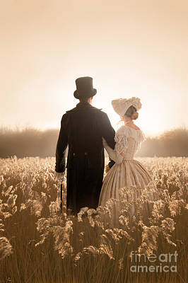 Victorian Couple In A Meadow Poster by Lee Avison