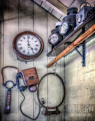 Victorian Train Memorabilia Poster by Adrian Evans