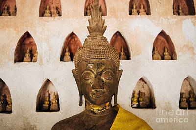 Vientiane Buddha 2 Poster by Dean Harte