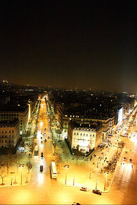 View From Arc De Triomphe - Paris France - 01134 Poster by DC Photographer
