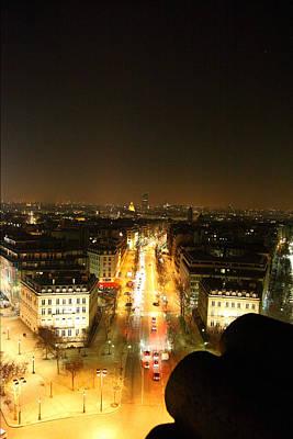 View From Arc De Triomphe - Paris France - 01139 Poster by DC Photographer
