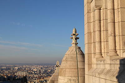 View From Basilica Of The Sacred Heart Of Paris - Sacre Coeur - Paris France - 01131 Poster by DC Photographer