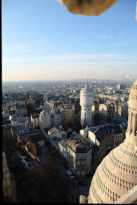 View From Basilica Of The Sacred Heart Of Paris - Sacre Coeur - Paris France - 011322 Poster by DC Photographer