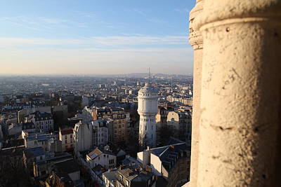 View From Basilica Of The Sacred Heart Of Paris - Sacre Coeur - Paris France - 01138 Poster by DC Photographer