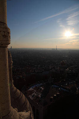 View From Basilica Of The Sacred Heart Of Paris - Sacre Coeur - Paris France - 01139 Poster by DC Photographer
