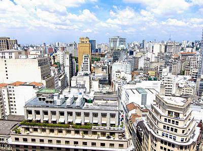 View From Edificio Martinelli - Sao Paulo Poster by Julie Niemela