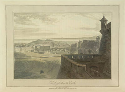 View From Edingbutgh Castle Over The City Poster by British Library