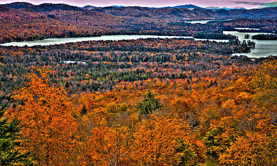 View From Mccauley Mountain Poster by David Patterson