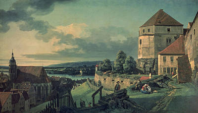 View From The Castle View Of Pirna, 1753-55 Poster by Bernardo Bellotto