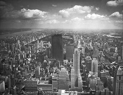 View From The Empire State Poster by Underwood Archives
