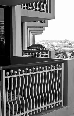 View From The Hotel Balcony Poster by Wayne King