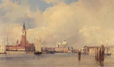 View In Venice Poster by Richard Parkes Bonington