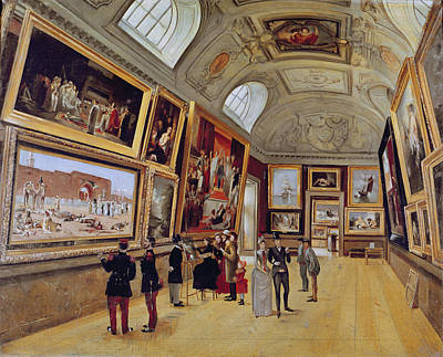 View Of A Room In The Musee Du Luxembourg In Paris In 1883-85 Oil On Canvas Poster by French School