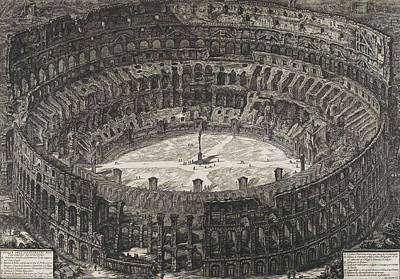 View Of Flavian Amphitheater Called The Colosseum Poster by Giovanni Battista Piranesi