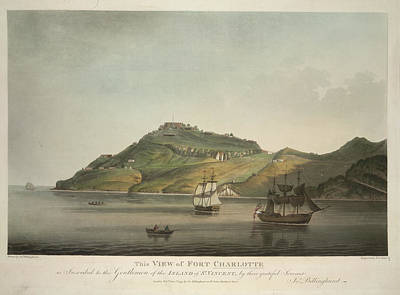 View Of Fort Charlotte Poster by British Library