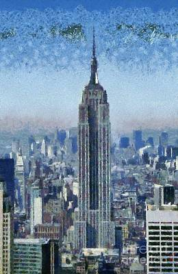 View Of Manhattan From Observation Deck At Rockfeller Building Poster by George Atsametakis