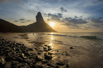 View Of Morro Do Pico From Praia Da Poster by Dosfotos