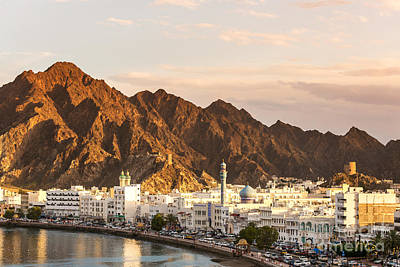 View Of Muscat At Sunset - Oman Poster by Matteo Colombo