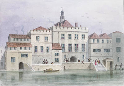 View Of Old Fishmongers Hall, 1650 Wc On Paper Poster by Thomas Hosmer Shepherd