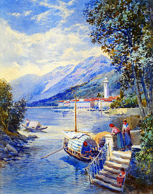 View Of Pallanza On Lago Di Maggiore Poster by Celestial Images