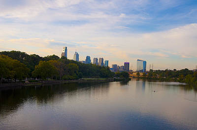 View Of Philadelphia From The Girard Avenue Bridge Poster by Bill Cannon