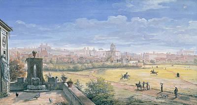 View Of Rome Poster by Gaspar van Wittel