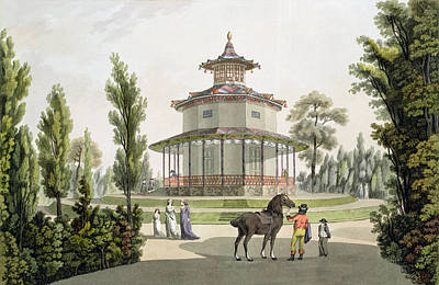 View Of The Chinese Summer House Poster by Laurenz Janscha