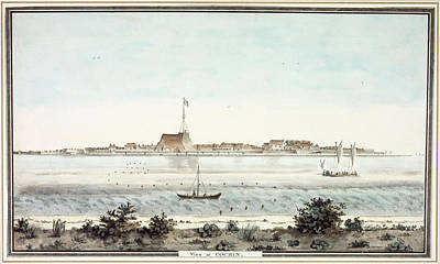 View Of The Fort Of Cochin Poster by British Library