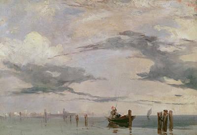 View Of The Lagoon Near Venice, 1826  Poster by Richard Parkes Bonington