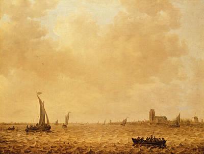 View Of The Old Maas, Dordrecht Poster by Jan Josephsz van Goyen