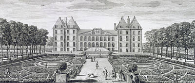 View Of The Royal Chateau Of Saint Maur From The Garden  Poster by Jacques Rigaud
