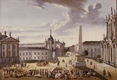 View Of The Town Hall, 1772 Oil On Canvas See Also 330437 Poster by Carl Christian Baron