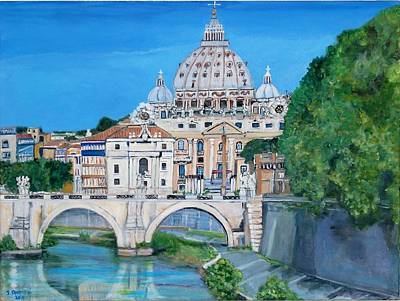 View Of The Vatican City In Rome Poster by Teresa Dominici