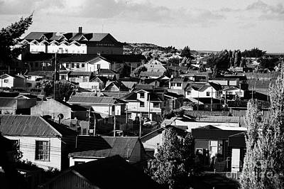 view over rooftops in local neighbourhood in Punta Arenas Chile Poster by Joe Fox