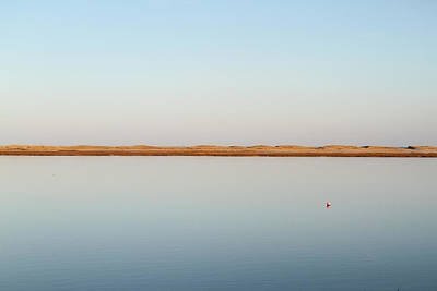 View Over Tranquil Waters Towards Dunes Poster by Susan Pease