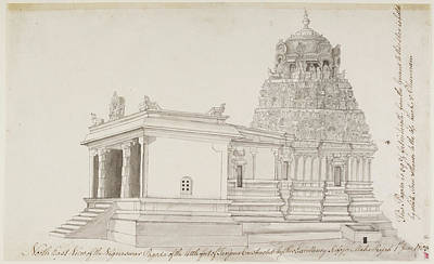 Vighnesvara Temple In Tanjore Poster by British Library