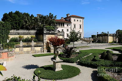 Villa Vizcaya From The Garden Poster by Christiane Schulze Art And Photography