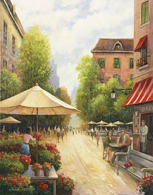 Village Scene Poster by John Zaccheo