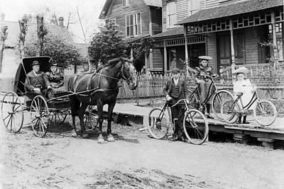 Village Street Scene Poster by Underwood Archives