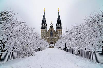 Villanova University In The Snow Poster by Bill Cannon