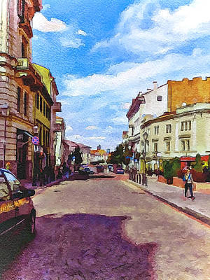 Vilnius Old Town 11 Poster by Yury Malkov