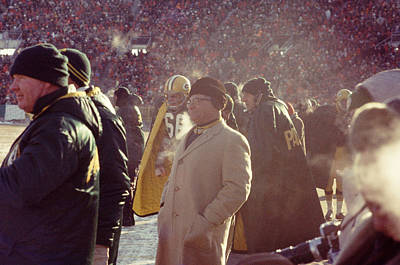 Vince Lombardi From Sidelines Poster by Retro Images Archive